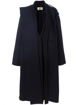 Двубортное пальто Ports 1961. Цвет: синий