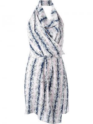 Платье с воротником-шалькой Carven. Цвет: многоцветный
