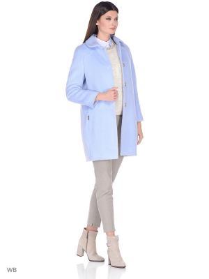 Пальто Gamelia. Цвет: голубой
