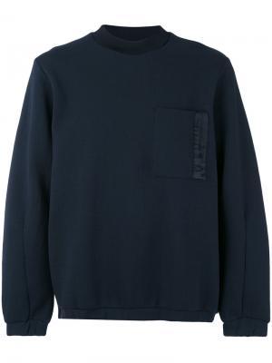 Трикотажный свитер Oamc. Цвет: синий