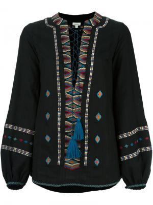 Блузка с вышивкой Talitha. Цвет: чёрный