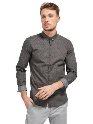 Рубашка TOM TAILOR. Цвет: светло-коричневый, серый