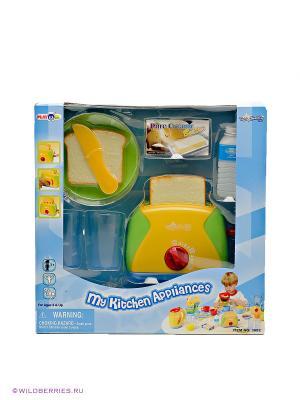 Игровой набор бытовой техники с тостером PlayGo. Цвет: зеленый, голубой, желтый