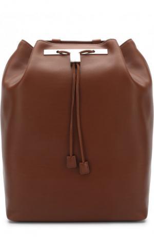 Рюкзак из кожи The Row. Цвет: темно-коричневый