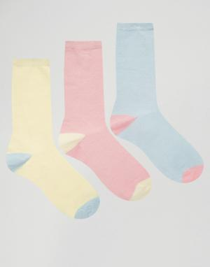 Fruitcake Комплект из 3 пар носков пастельной расцветки. Цвет: мульти