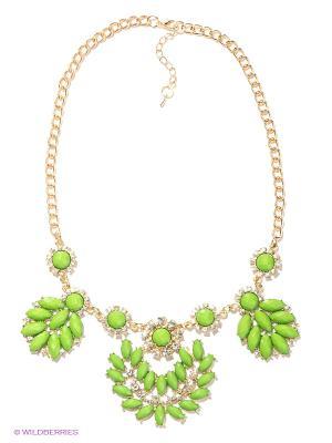 Колье Lovely Jewelry. Цвет: золотистый, зеленый
