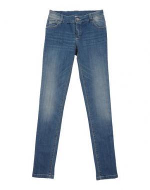 Джинсовые брюки ILLUDIA. Цвет: синий