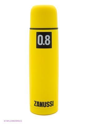 Термос желтый 0,8 л Zanussi. Цвет: желтый
