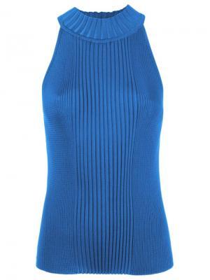 Sleeveless ribbed knit blouse Gig. Цвет: синий