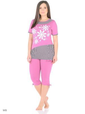 Комплект домашней одежды HomeLike. Цвет: розовый