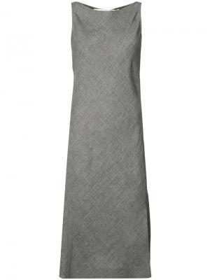 Side slit midi dress Narciso Rodriguez. Цвет: серый