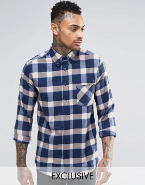 Brooklyn Supply Co. Фланелевая рубашка классического кроя в клетку Co. Цвет: бежевый