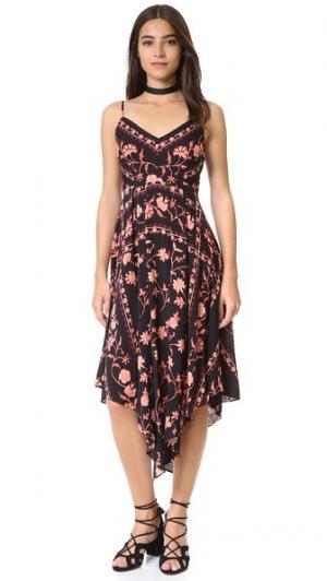 Платье-комбинация с принтом в стиле шарфа plenty by TRACY REESE. Цвет: цветочный