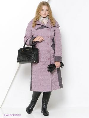 Пальто Brillare. Цвет: сиреневый