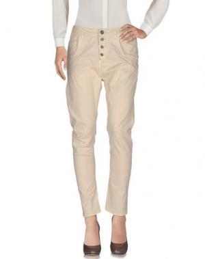 Повседневные брюки TAKE-TWO. Цвет: песочный