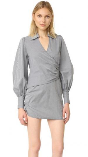 Платье на пуговицах Faith Petersyn. Цвет: серый