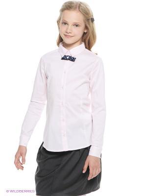 Блузка Button Blue. Цвет: бледно-розовый