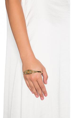 Браслет evil eye palm SunaharA. Цвет: металлический золотой