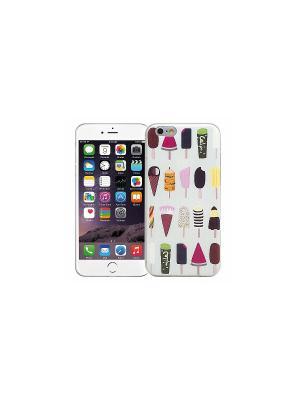 Чехол для iPhone 6/6s Ассорти мороженое (голубой) Kawaii Factory. Цвет: голубой, черный, коричневый