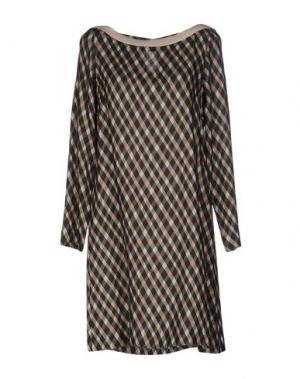 Короткое платье SIYU. Цвет: светло-зеленый