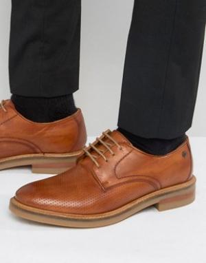 Base London Кожаные туфли с перфорацией Stanford. Цвет: рыжий
