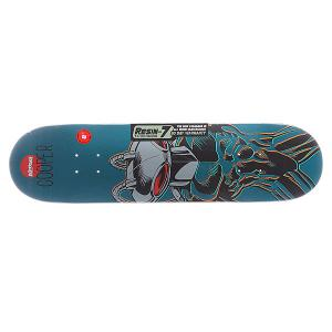 Дека для скейтборда  S5 Cooper Black Manta R7 Blue 31.6 x 8.0 (20.3 см) Almost. Цвет: синий