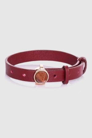 Кожаный браслет Eddie Borgo. Цвет: бургунди