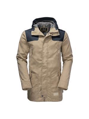 Куртка DARWIN PARKA Jack Wolfskin. Цвет: бежевый