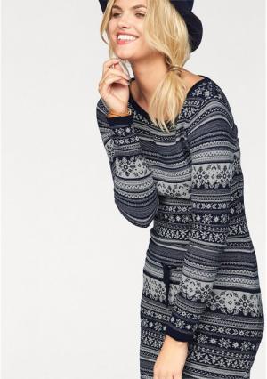 Платье AJC. Цвет: темно-синий/белый