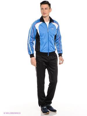 Спортивный костюм ADDIC. Цвет: черный, голубой