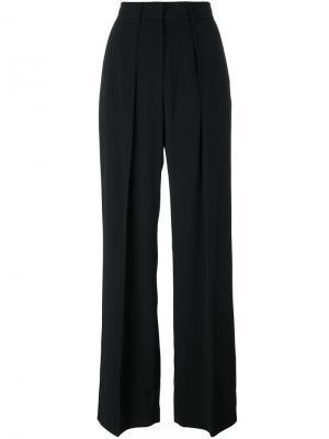 Широкие брюки MSGM. Цвет: чёрный
