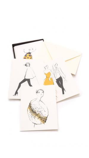Набор разных поздравительных открыток для девушек Garance Dore Collection Rifle Paper Co