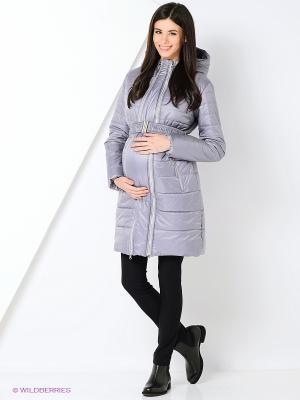 Пальто EUROMAMA. Цвет: серый