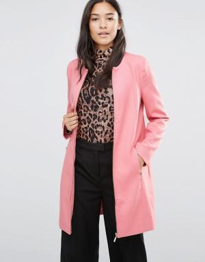 Soaked in Luxury Розовое пальто Katie. Цвет: розовый