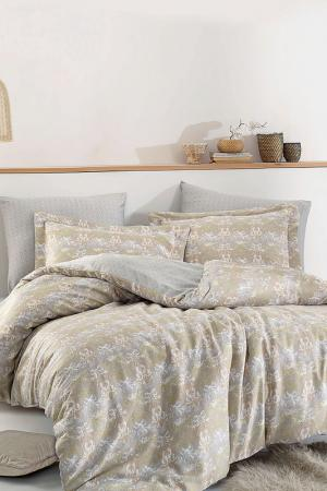 DOUBLE QUILT COVER SET Marie claire. Цвет: grey, beige, white