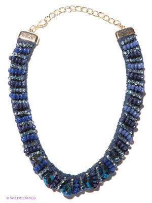 Колье Lovely Jewelry. Цвет: синий, золотистый