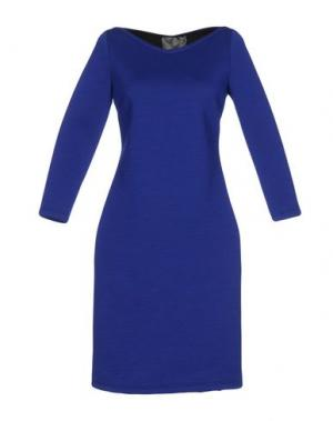 Платье до колена ES'GIVIEN. Цвет: ярко-синий