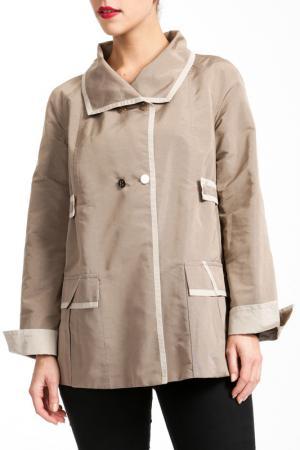 Пальто Salco. Цвет: серый