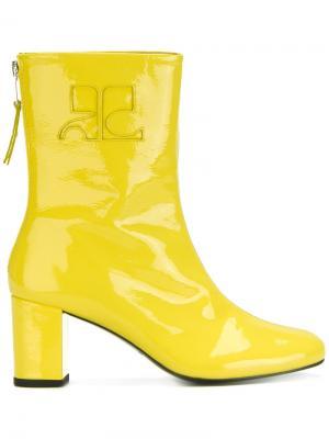 Ботинки по щиколотку Courrèges. Цвет: жёлтый и оранжевый