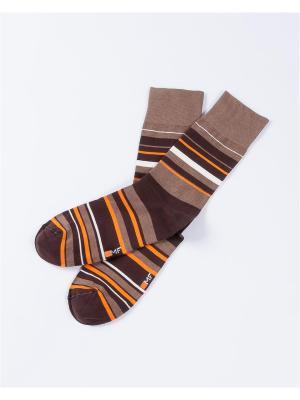 Носки Mark Formelle. Цвет: бежевый, оранжевый, белый, коричневый