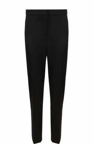 Однотонные шерстяные брюки прямого кроя Oscar de la Renta. Цвет: черный
