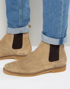 Base London Замшевые ботинки челси Ferdinand. Цвет: бежевый