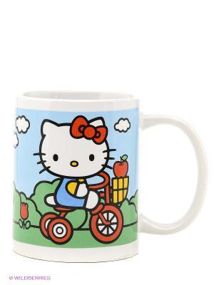 Кружка керамическая  Hello Kitty Stor. Цвет: голубой, белый, зеленый, красный