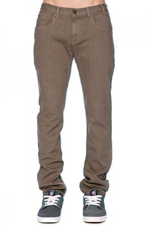 Джинсы прямые мужские классические  Manorexic Jean 3 Clay Enjoi. Цвет: коричневый