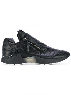 Кроссовки с молниями сбоку Cinzia Araia. Цвет: чёрный