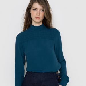 Блузка из дымчатой ткани MADEMOISELLE R. Цвет: сине-зеленый,слоновая кость