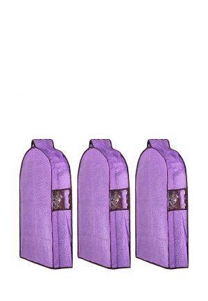 Комплект чехлов для верхней одежды 3 шт. El Casa. Цвет: фиолетовый
