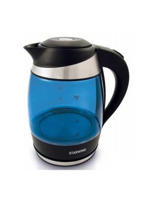 Чайник Starwind SKG2216, синий/черный. Цвет: синий, черный