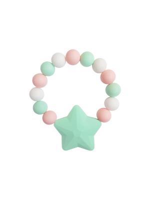 Браслет-прорезыватель Звездочка TI AMO МАМА. Цвет: светло-зеленый, бледно-розовый, светло-голубой
