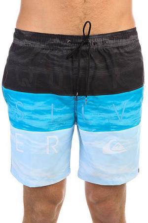 Шорты пляжные  Wordwavevol17 Blue Danube Quiksilver. Цвет: голубой,синий,черный